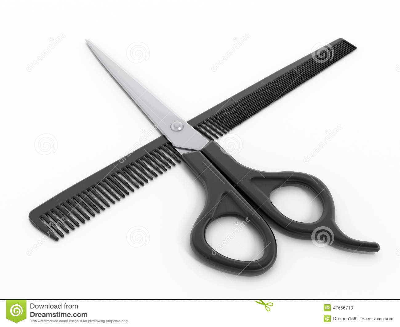 Hair cutting tools stock illustration image 47656713