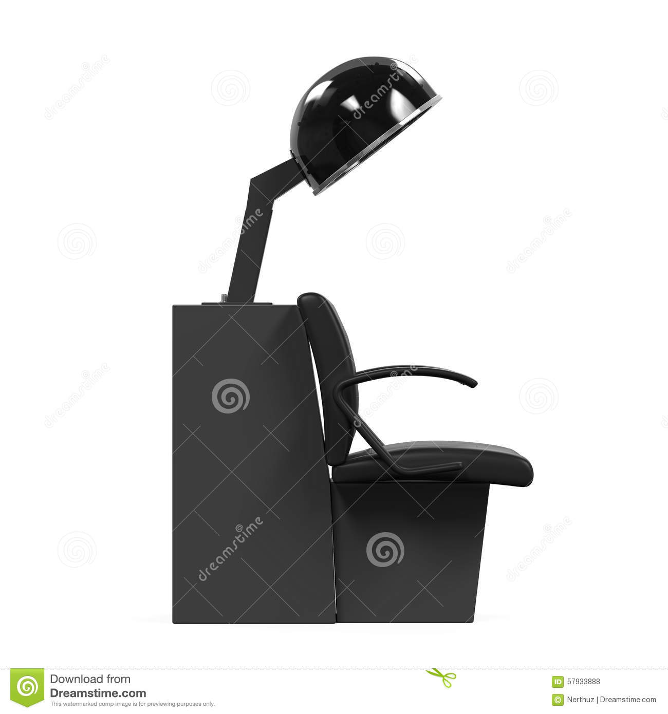 Astounding Hair Dryer Chair Stock Illustration Illustration Of Caraccident5 Cool Chair Designs And Ideas Caraccident5Info