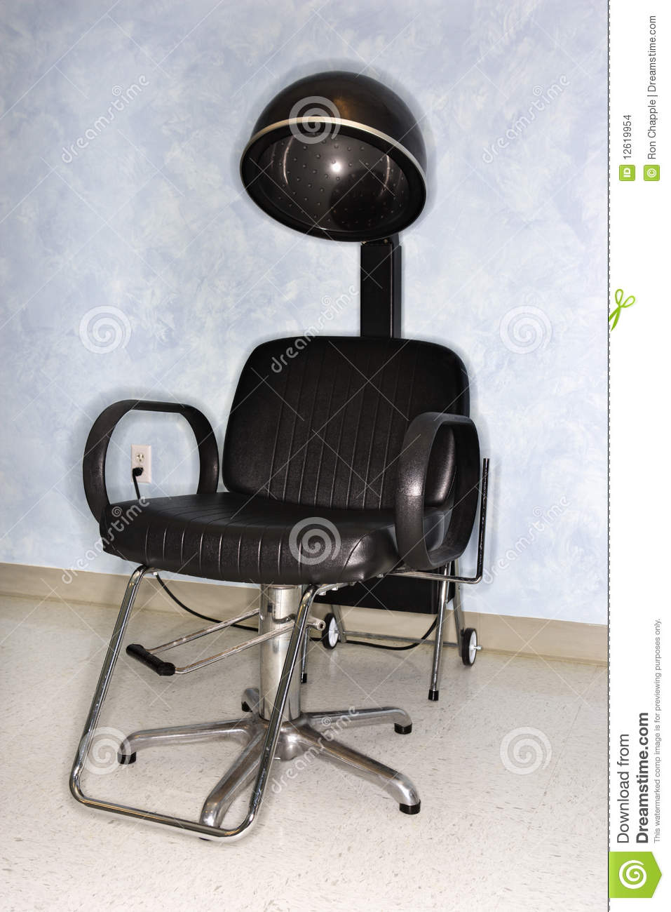 hair dryer chair at salon stock photo image of business 12619954