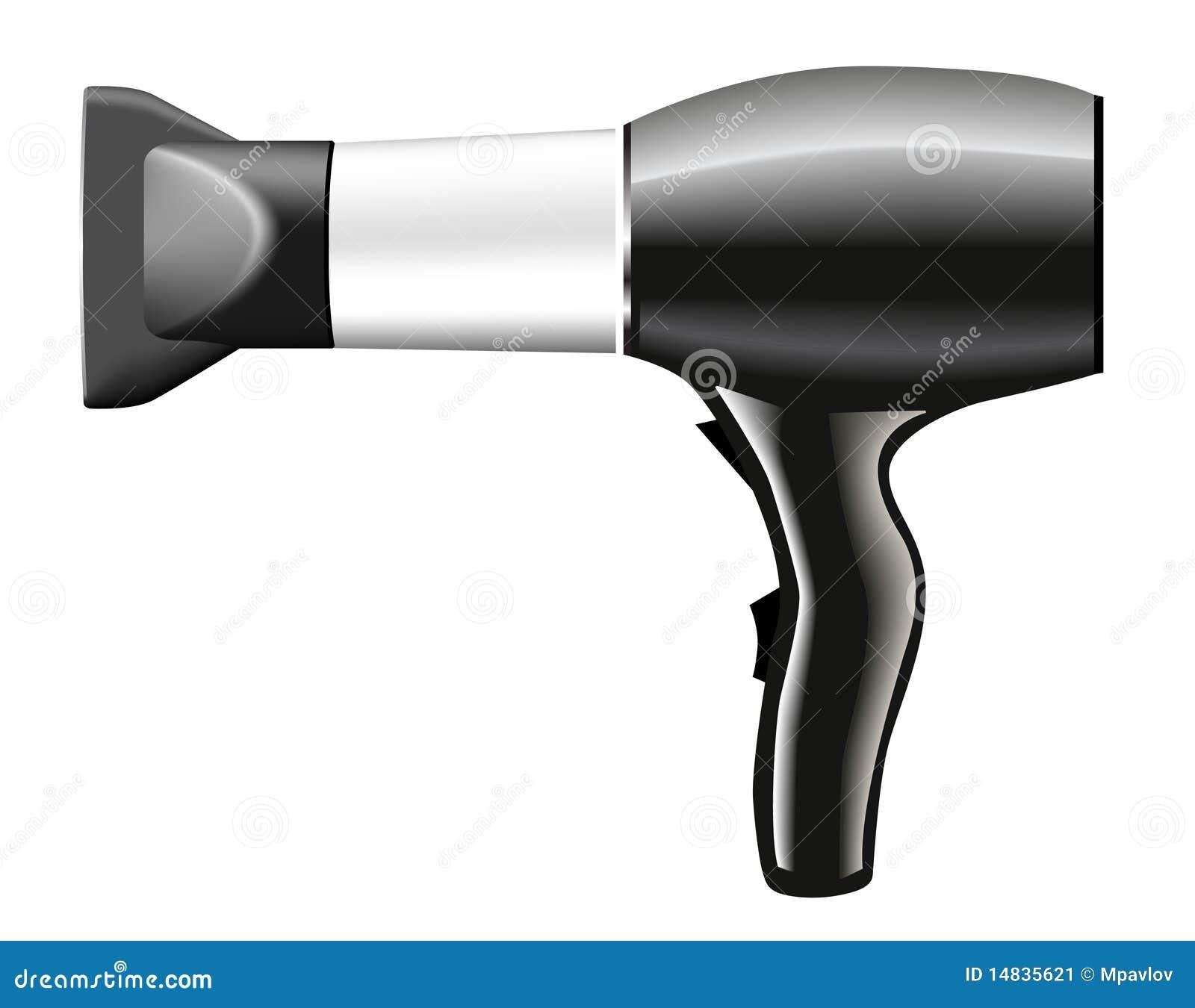 Animated Hair Dryer ~ Hair dryer grey illustration stock image