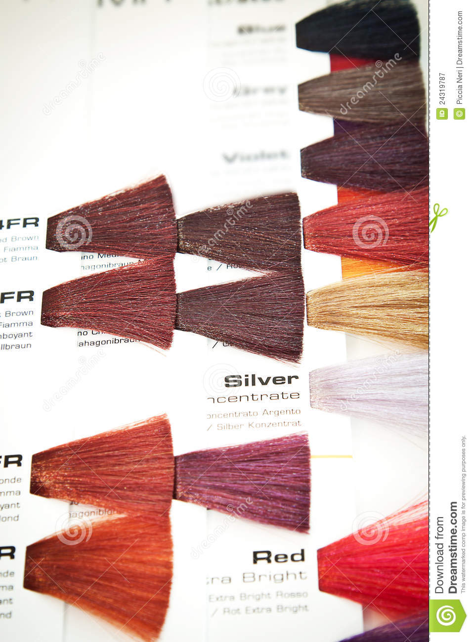 Hair Dye Colour Swatch Stock Image Image Of Hairstyle 24319787