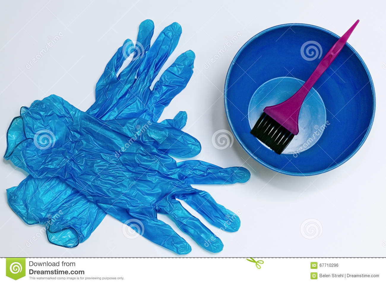 Hair Dye Utensils Stock Photo Image Of White Beauty 67710296