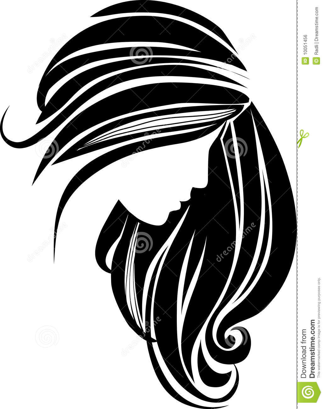 Hair Icon Royalty Free Stock Image Image 10051456