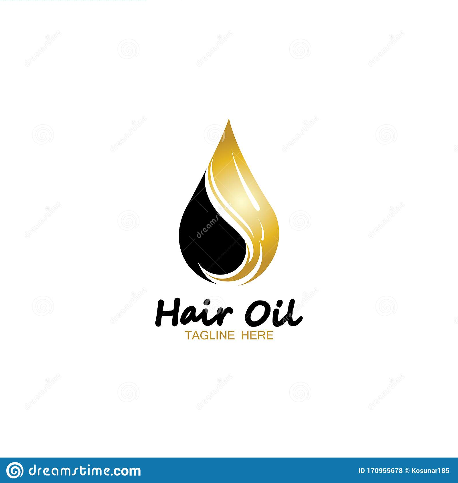 Hair Oil Essential Logo With Drop Oil And Hair Logo Symbol Vector Stock Vector Illustration Of Illustration Healthy 170955678