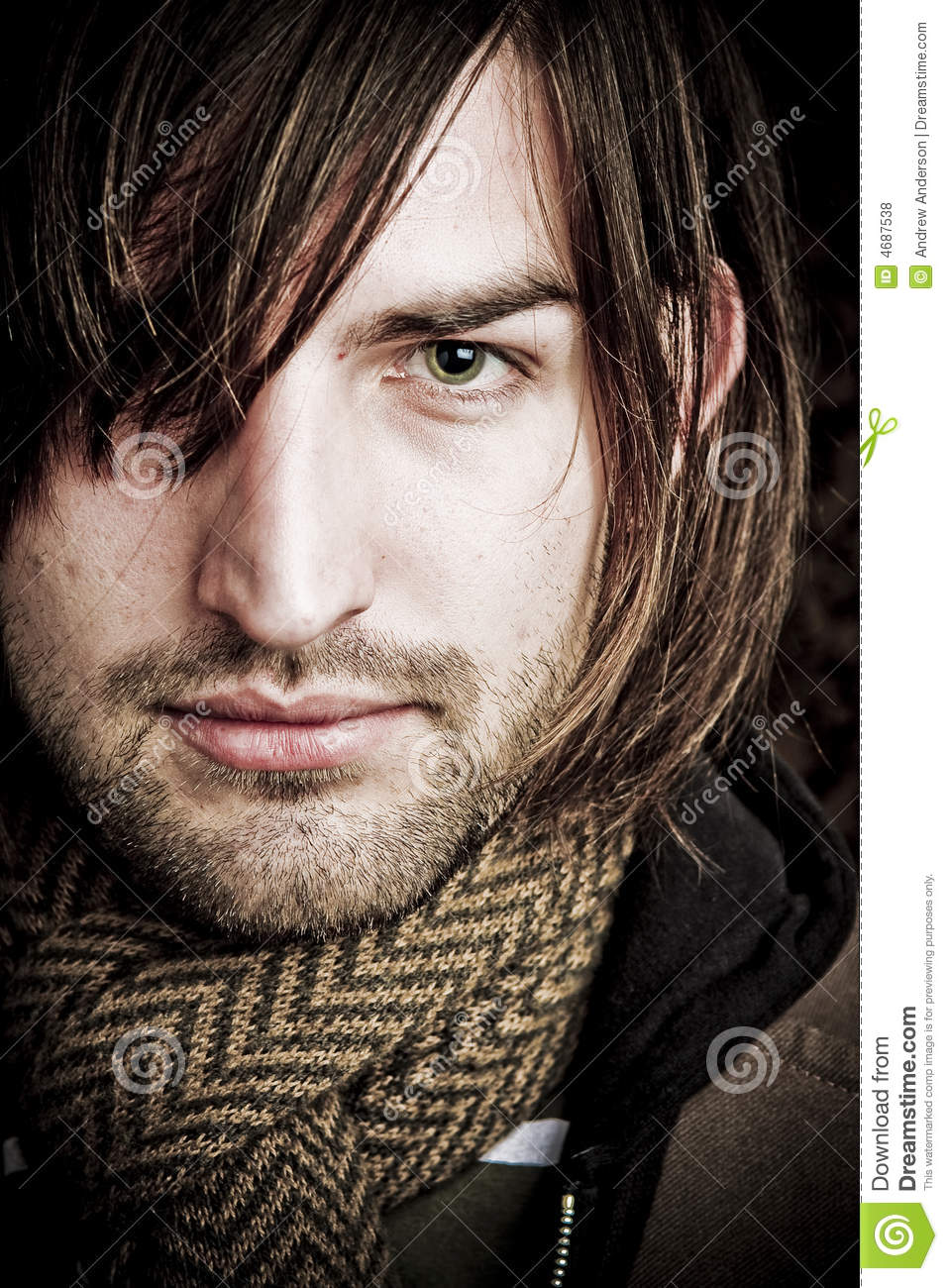 Hair Over Eye Royalty Free Stock Photos Image 4687538