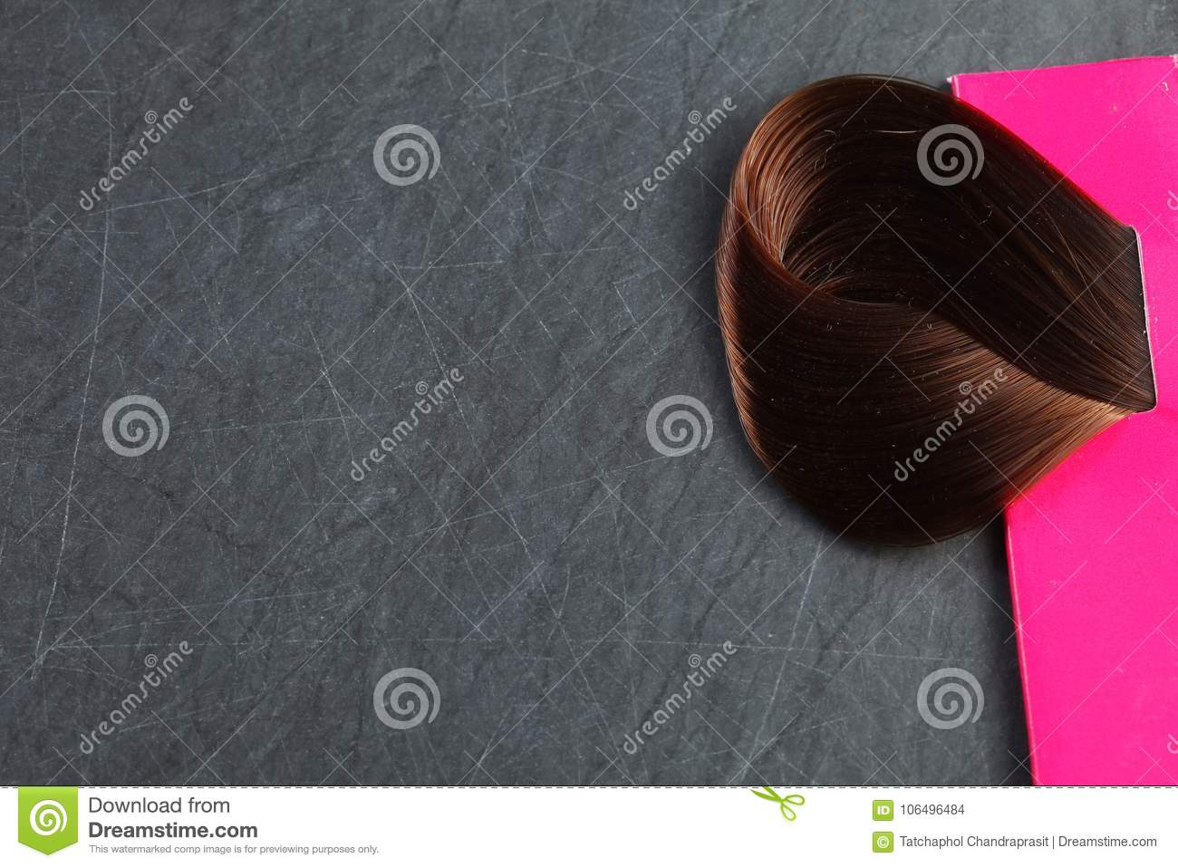 Hair Piece On Slate Board Scene Stock Photo Image Of Hair Color
