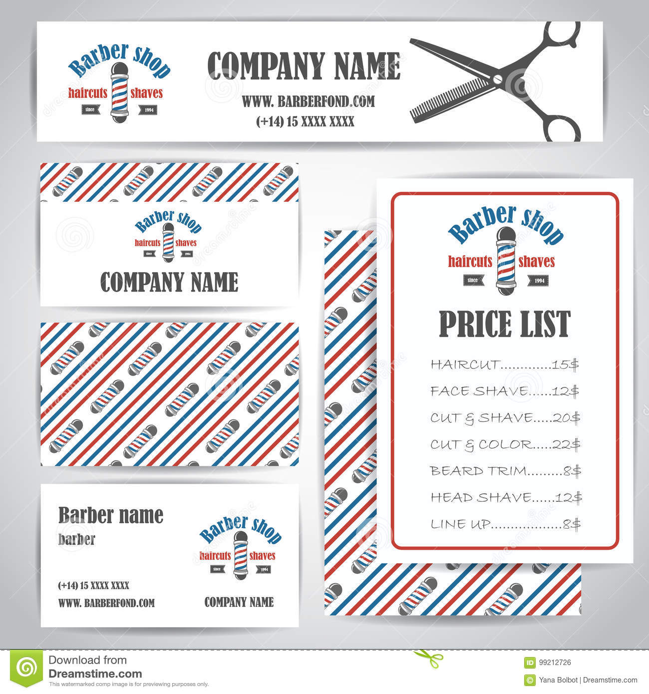 Hair salon barber shop vintage business cards and prices design download hair salon barber shop vintage business cards and prices design template set stock vector colourmoves