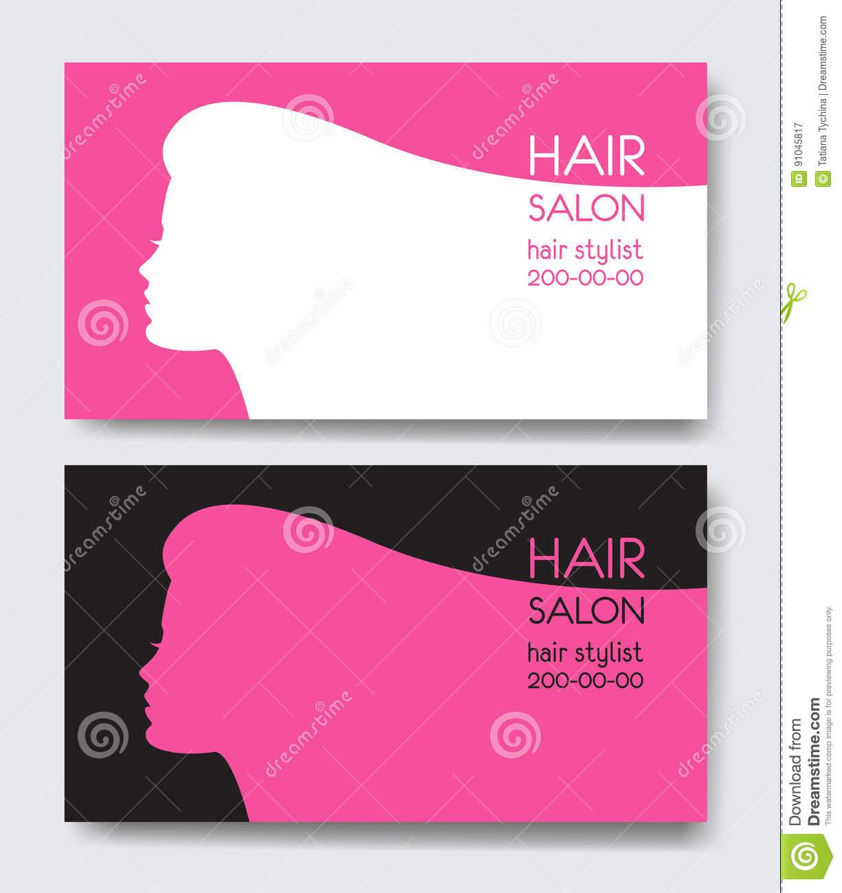 Hair salon business cards vector best hair salon 2017 business card design for hair salon with long haired magicingreecefo Images