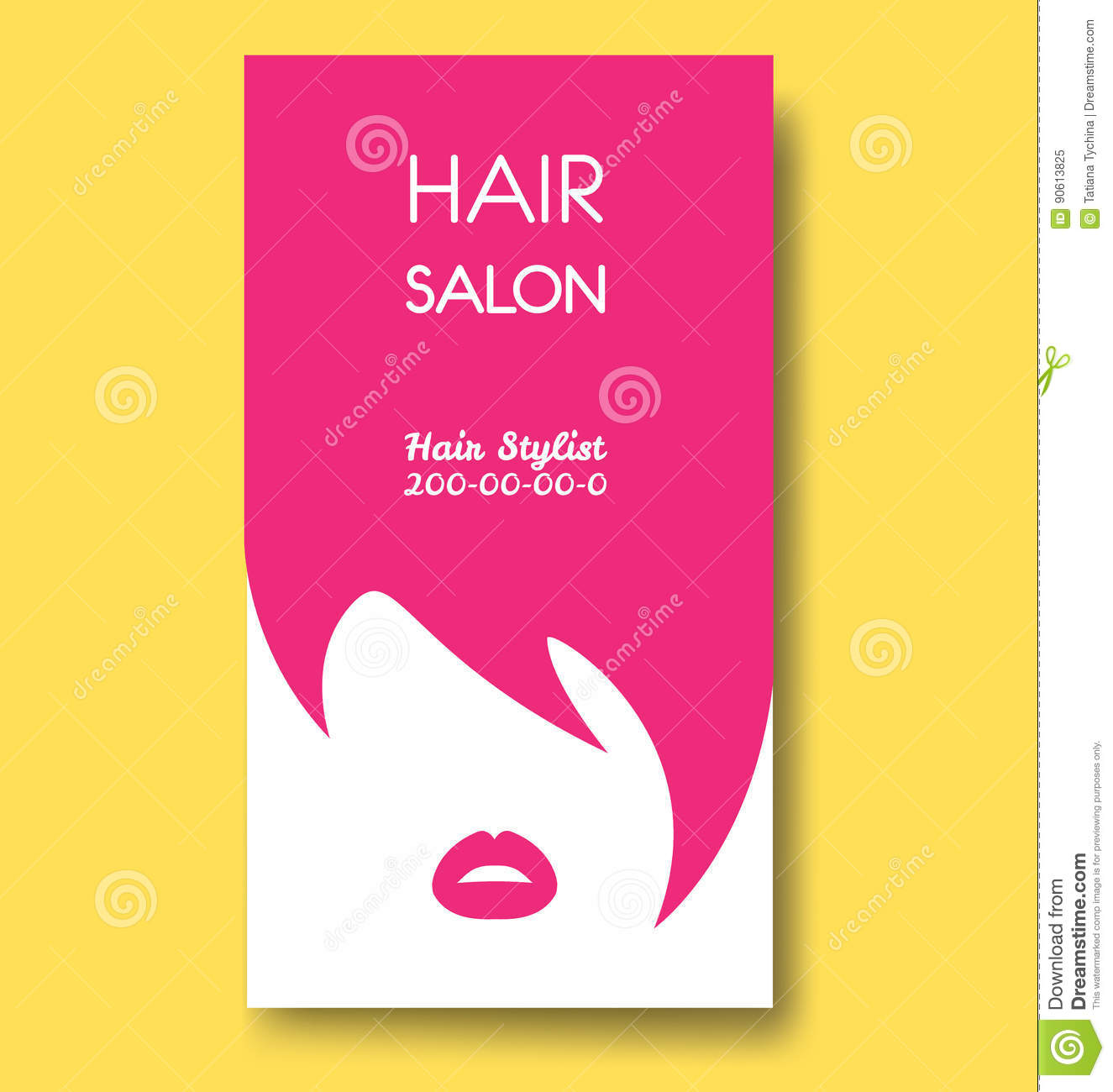 Hair salon business card templates with pink hair and pink lips download hair salon business card templates with pink hair and pink lips stock vector flashek Gallery
