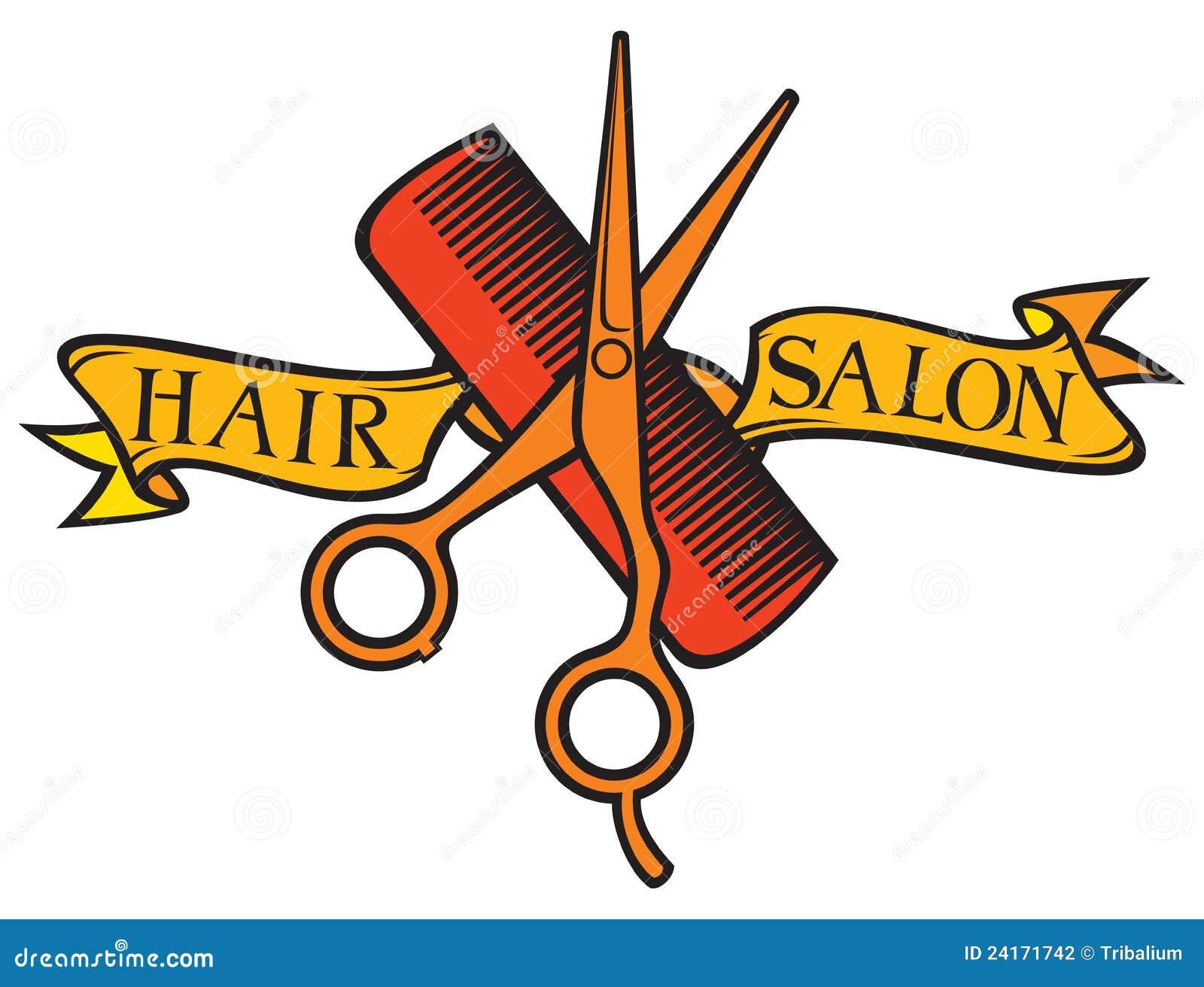 Hair Cutting Clip Art Haircut or hair salon symbol.