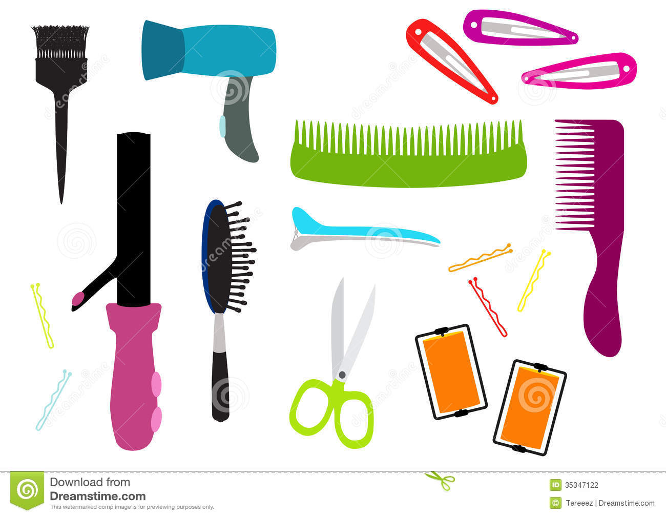Hair salon equipment illustration stock photography for Accessories for beauty salon