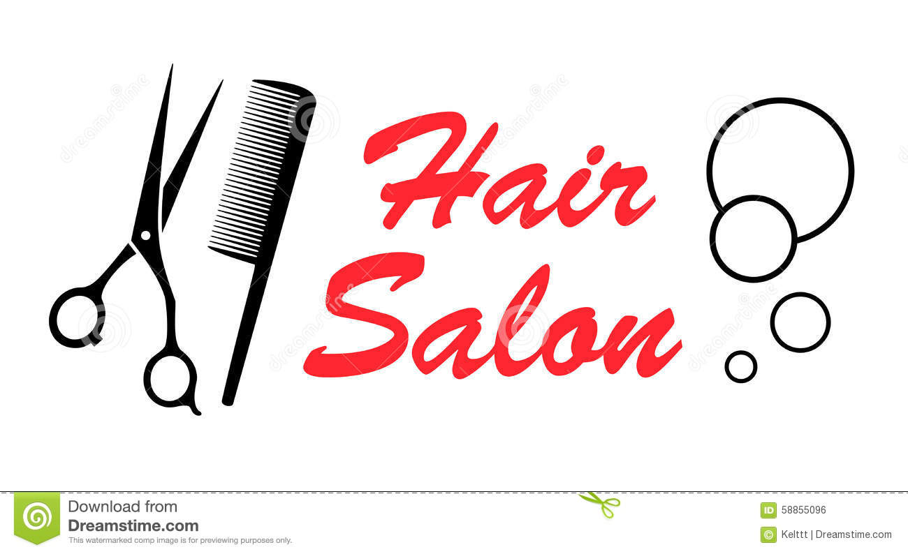 Scissors and comb icon outline style vector illustration for Hair salon tools