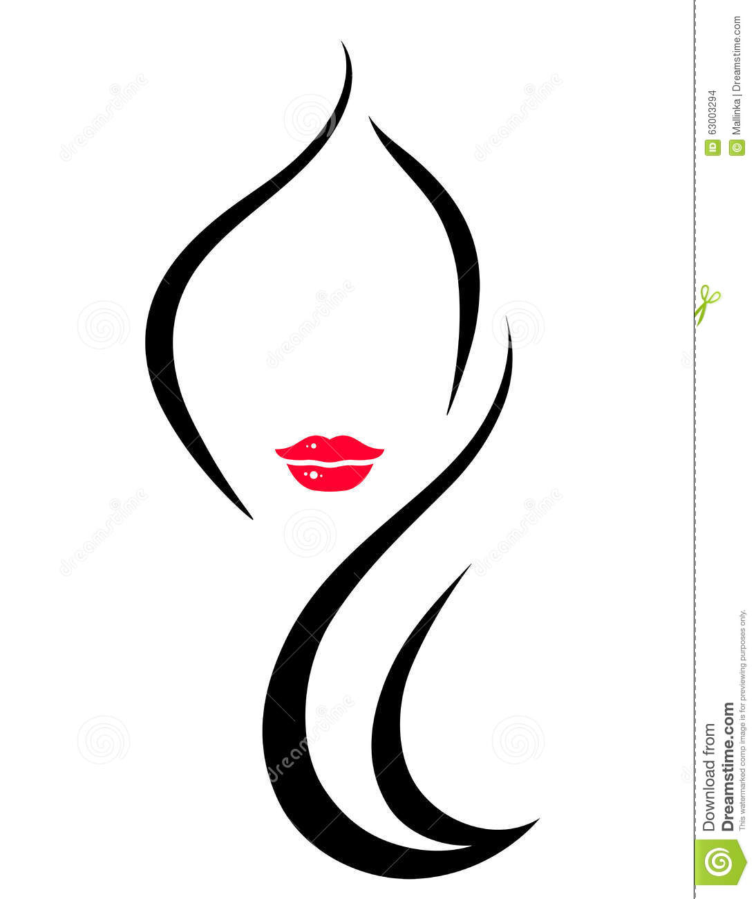 Hair Salon Icon With Woman Stock Vector Image 63003294