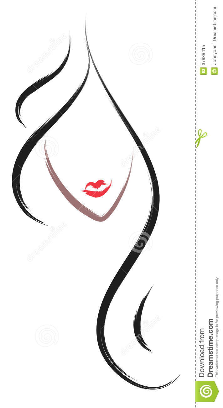 Hair salon logo stock image image of fashionable neck for Abstract beauty salon
