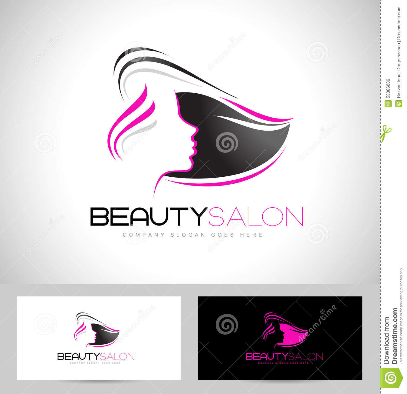 Salon stock illustrations 54855 salon stock illustrations hair salon logo design creative abstract woman face and hair and business card template wajeb Choice Image