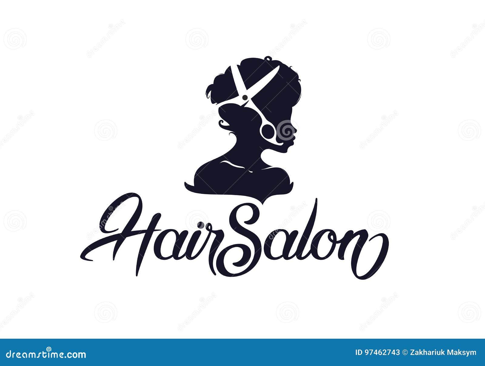 Hair Salon Logo Stock Vector Illustration Of Hairdresser 97462743