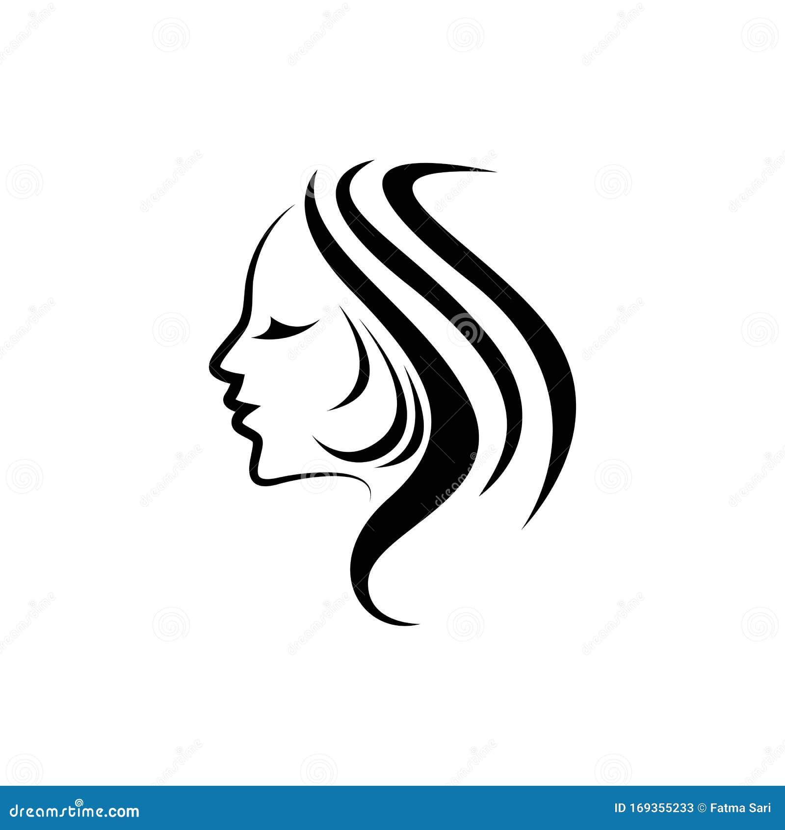 Basemenstamper Design Black Hair Salon Logo