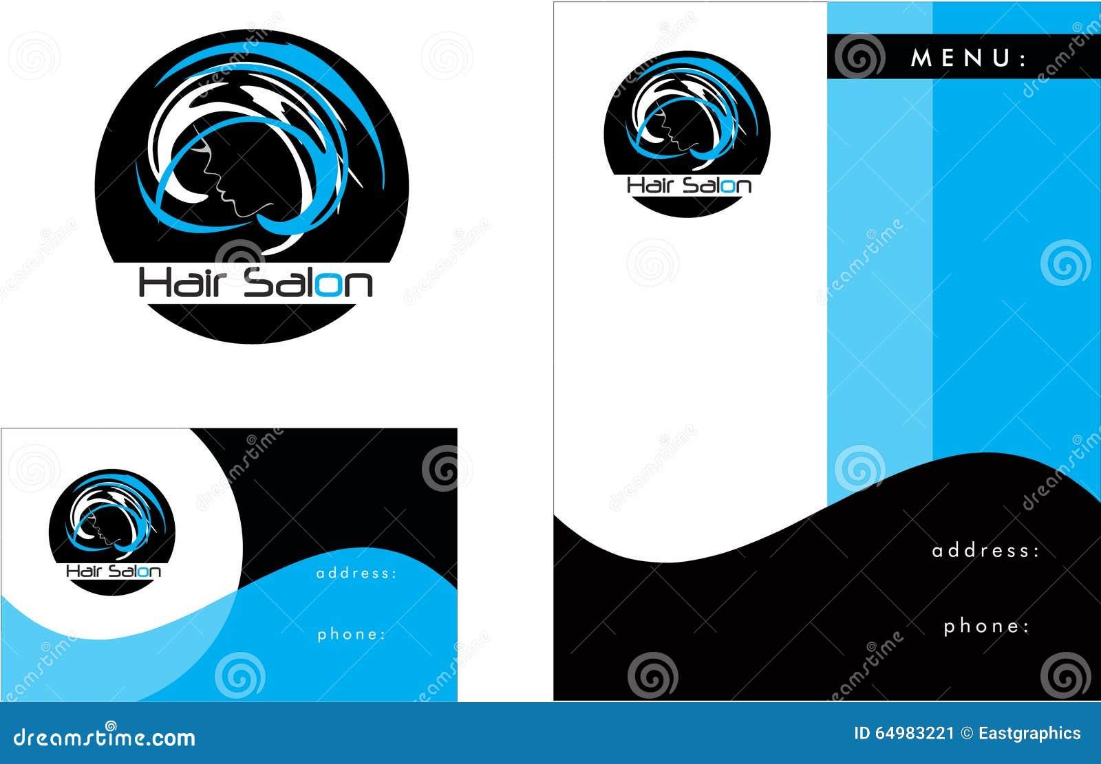 Hair Salon Modern Logo, Business Card 2 X 3.5, Flyer 4.25 X 5.5 ...