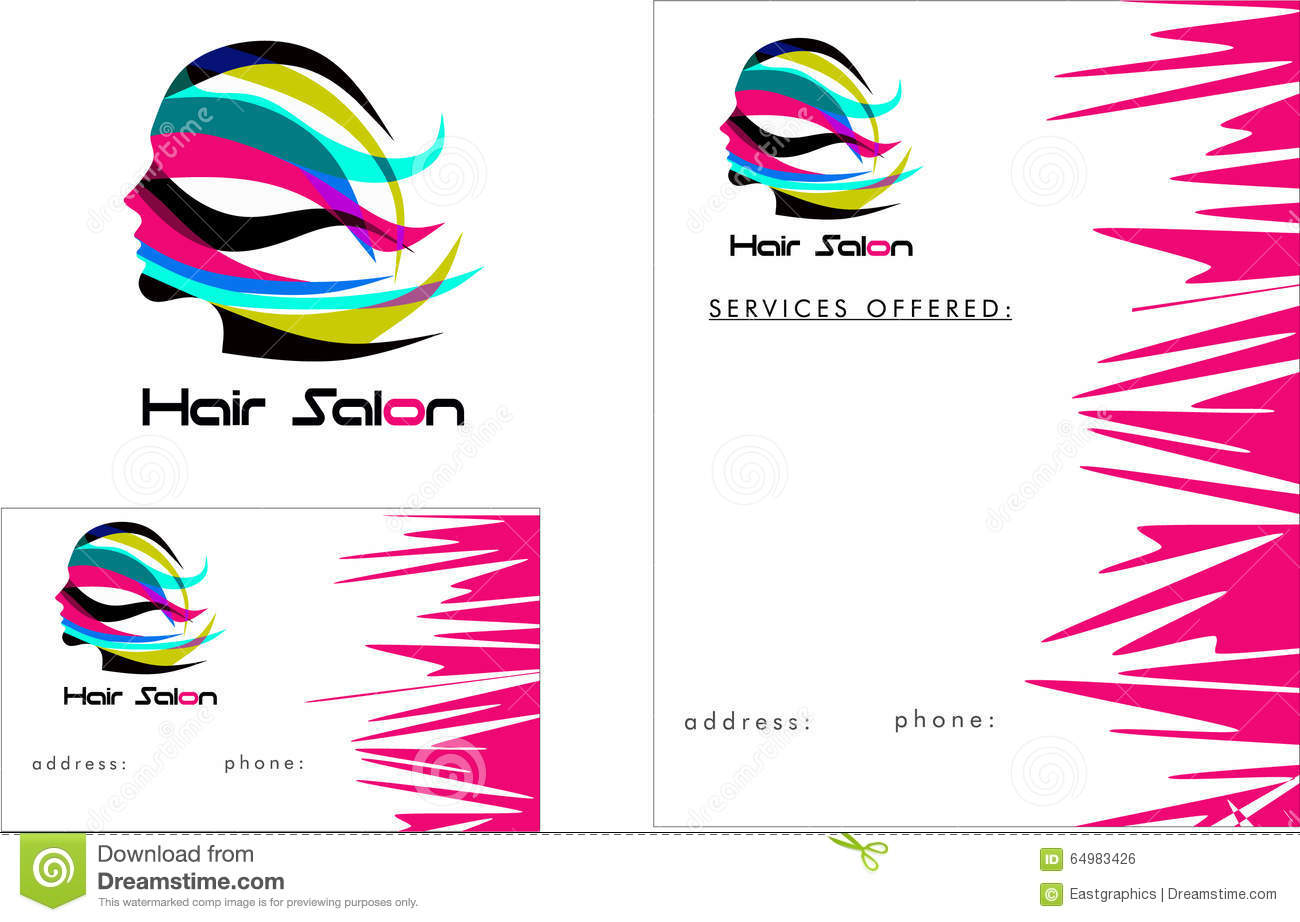 Hair Salon Modern Logo, Business Card 2 X 3.5, Flyer 4.25 X 5.5 ...