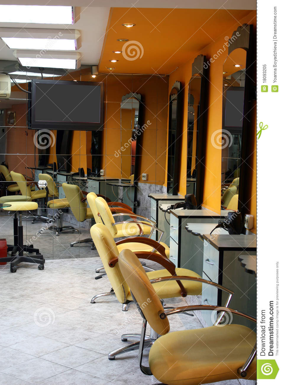 Hair Saloon Stock Image Image Of Wall Design Shop