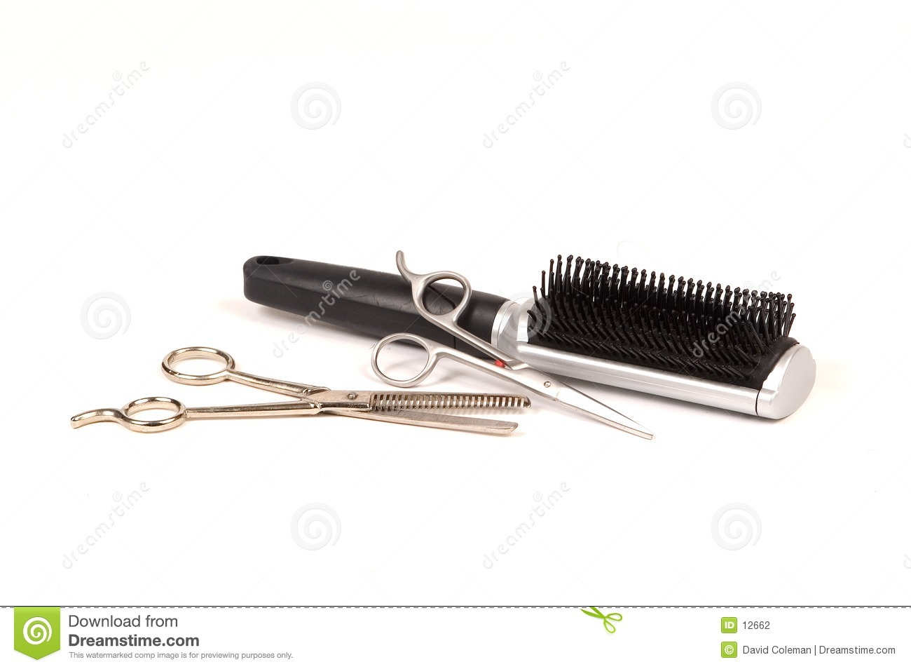 Hair Scissors and Brush