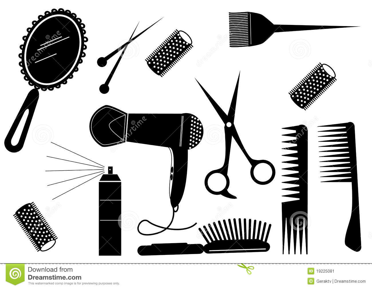 Hair Style Beauty Element Stock Vector Illustration Of