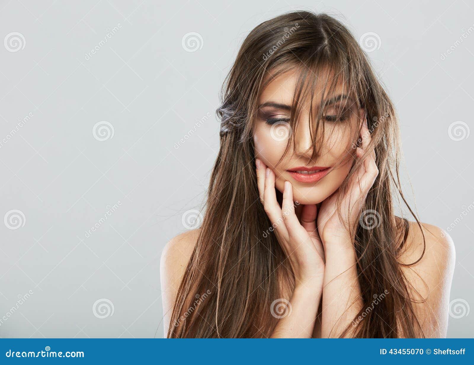 Hair style fashion woman face