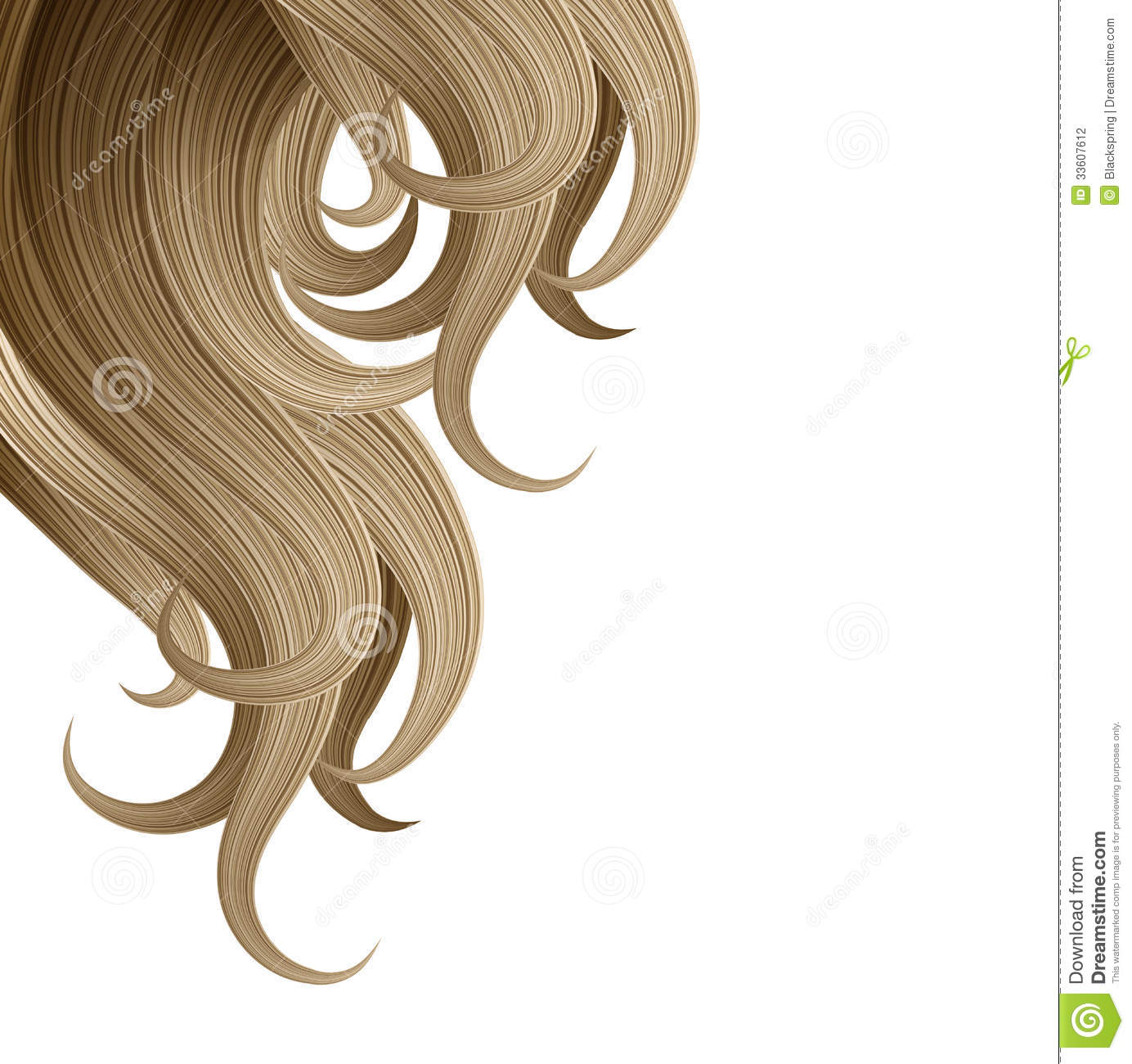 Hair Style And Haircare Design Template Stock Photography - Image ...