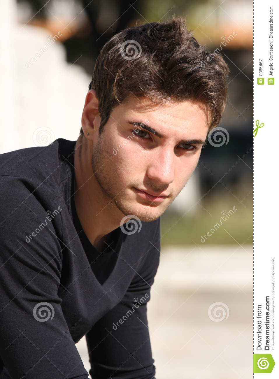 Hair Style Model Gorgeous Men Stock Image Image Of