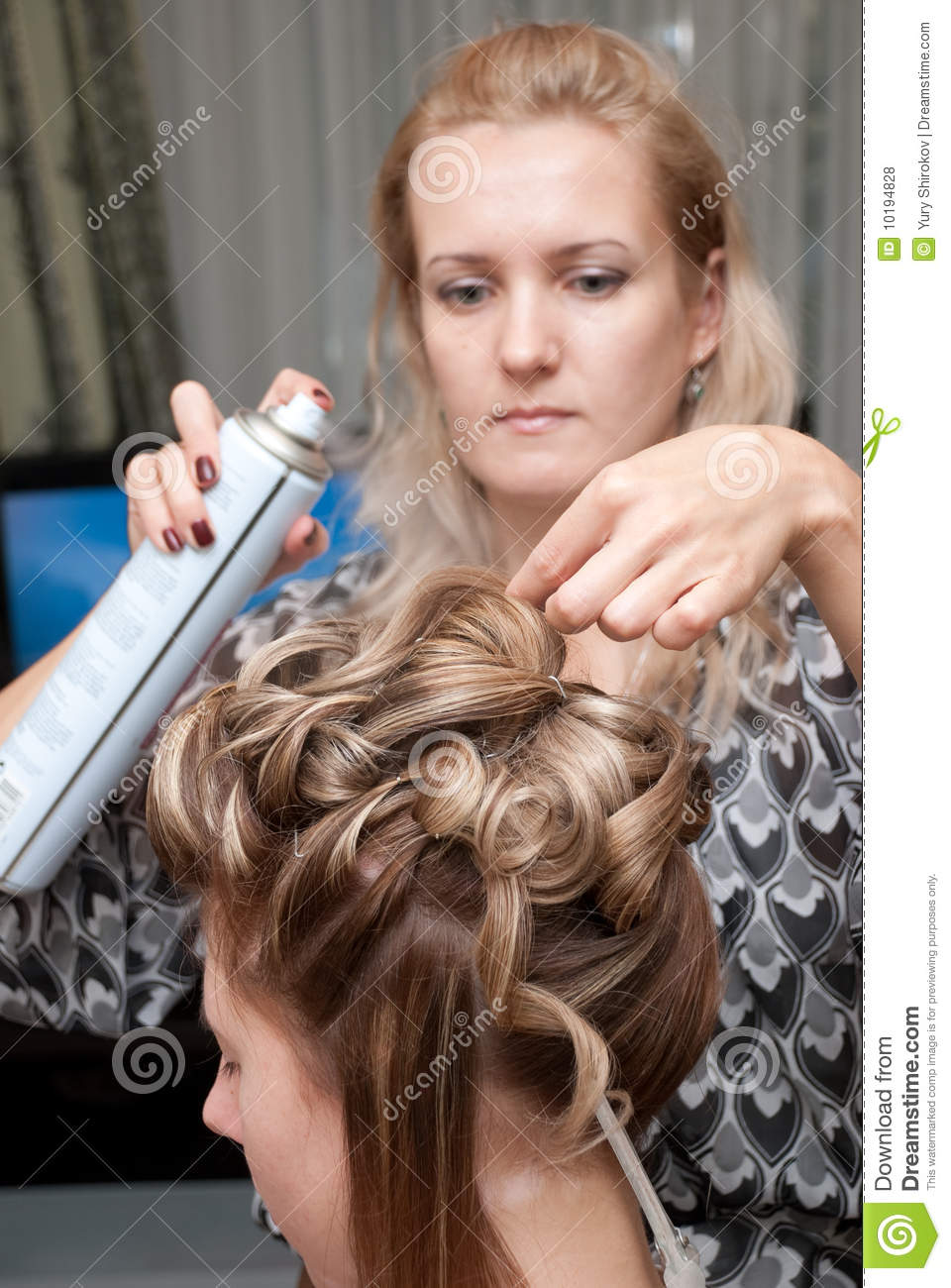 Hair Styling Royalty Free Stock Photos - Image: 10194828
