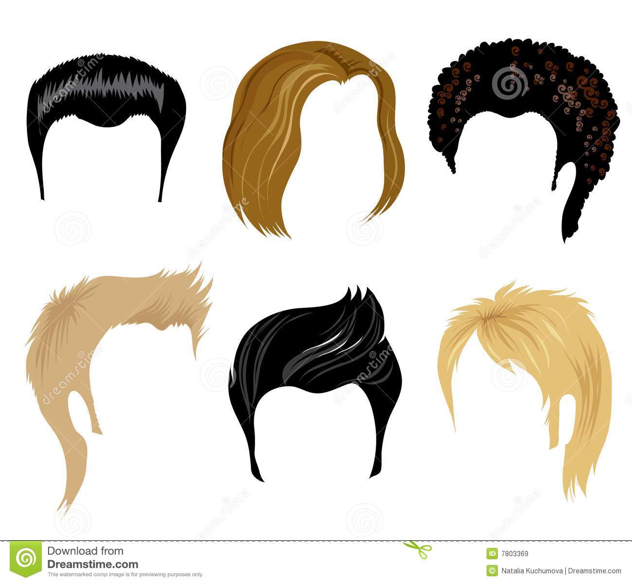 Hair Styling For Man Stock Vector Illustration Of Illustration