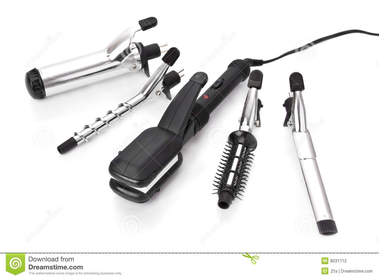 Hair Styling Videos: Hair Styling Set Stock Photo. Image Of Background