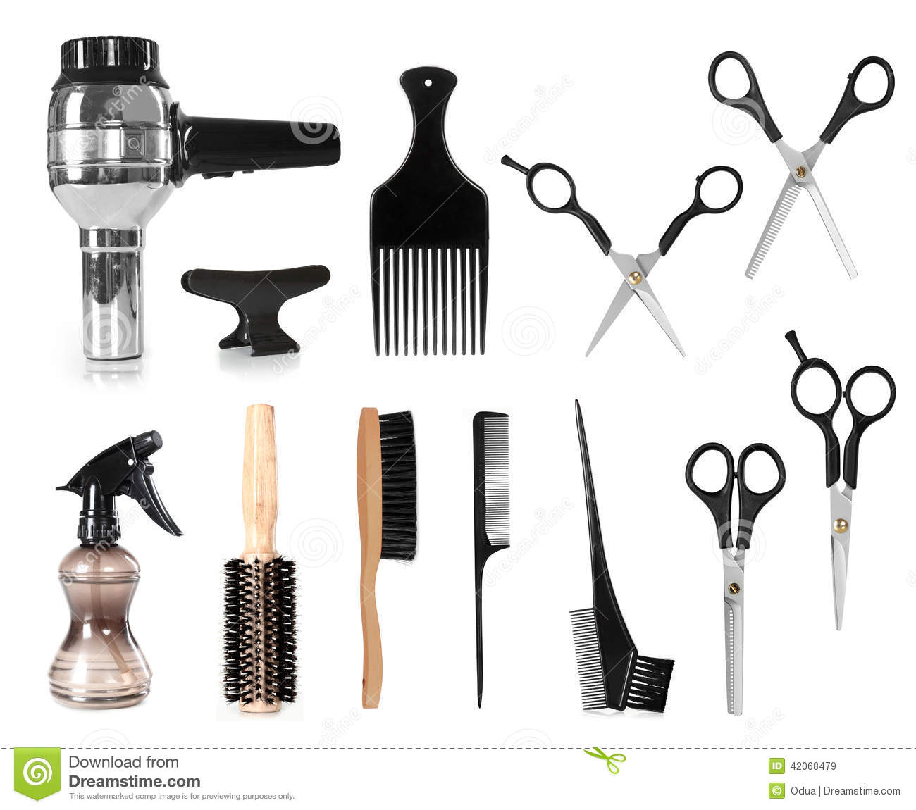 Hair styling tools stock image image of cosmetics hair for A m salon equipment
