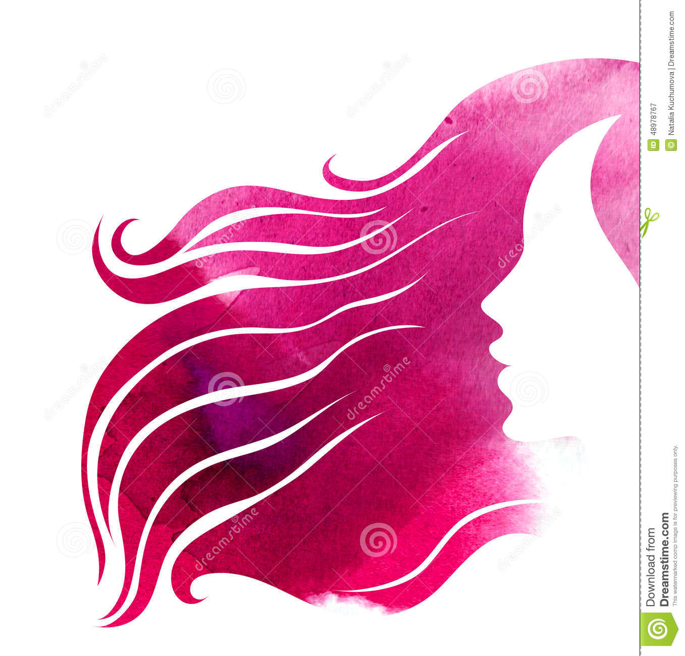 Hair Styling For Woman Stock Illustration Image 48978767