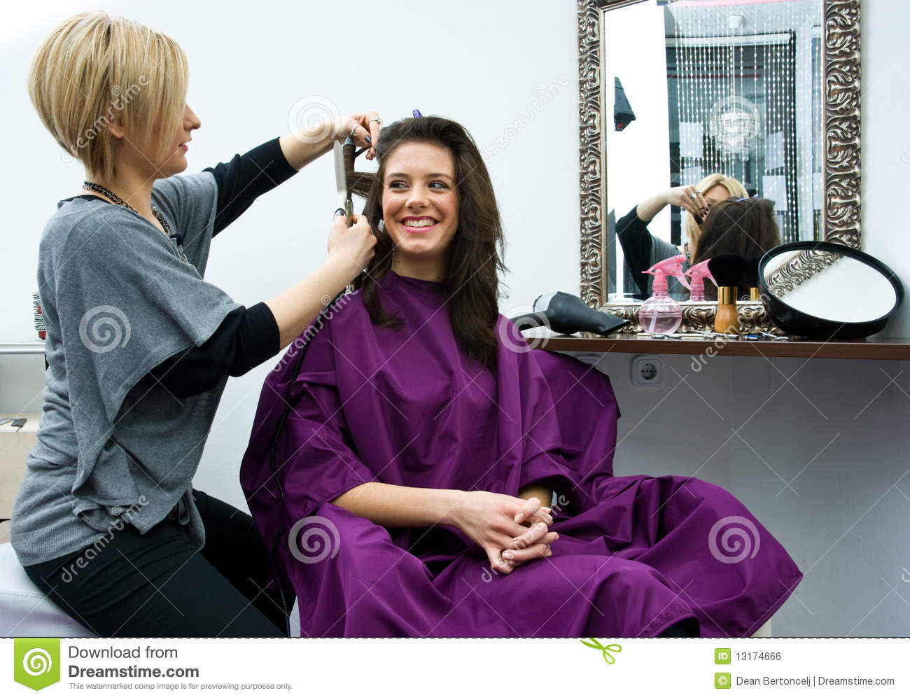 Hair stylist at work royalty free stock image image for Hair salon perfect first essential