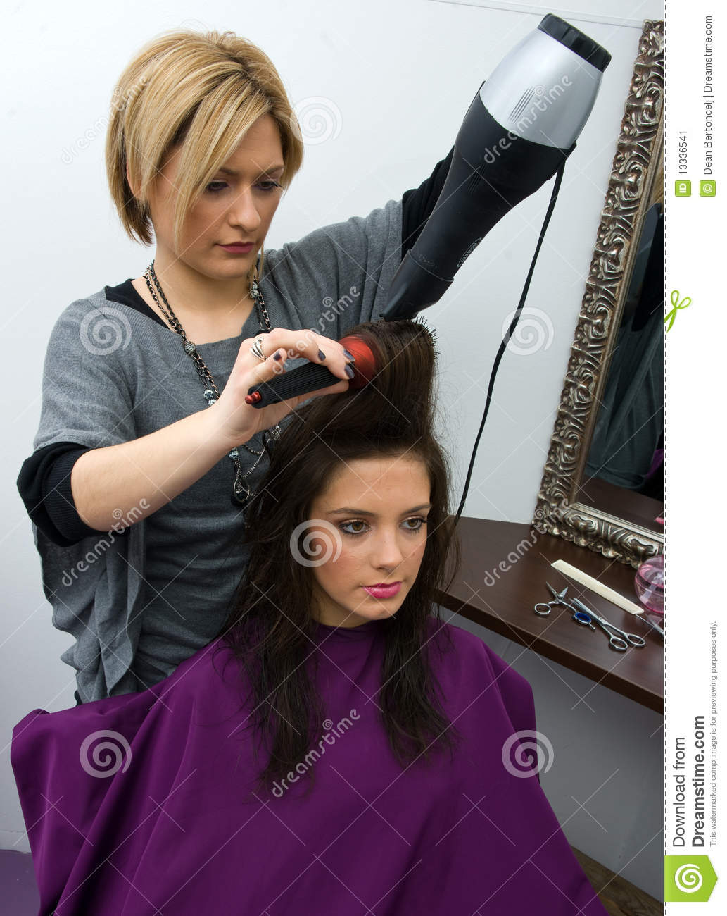 Hair Stylist At Work Stock Image Image 13336541