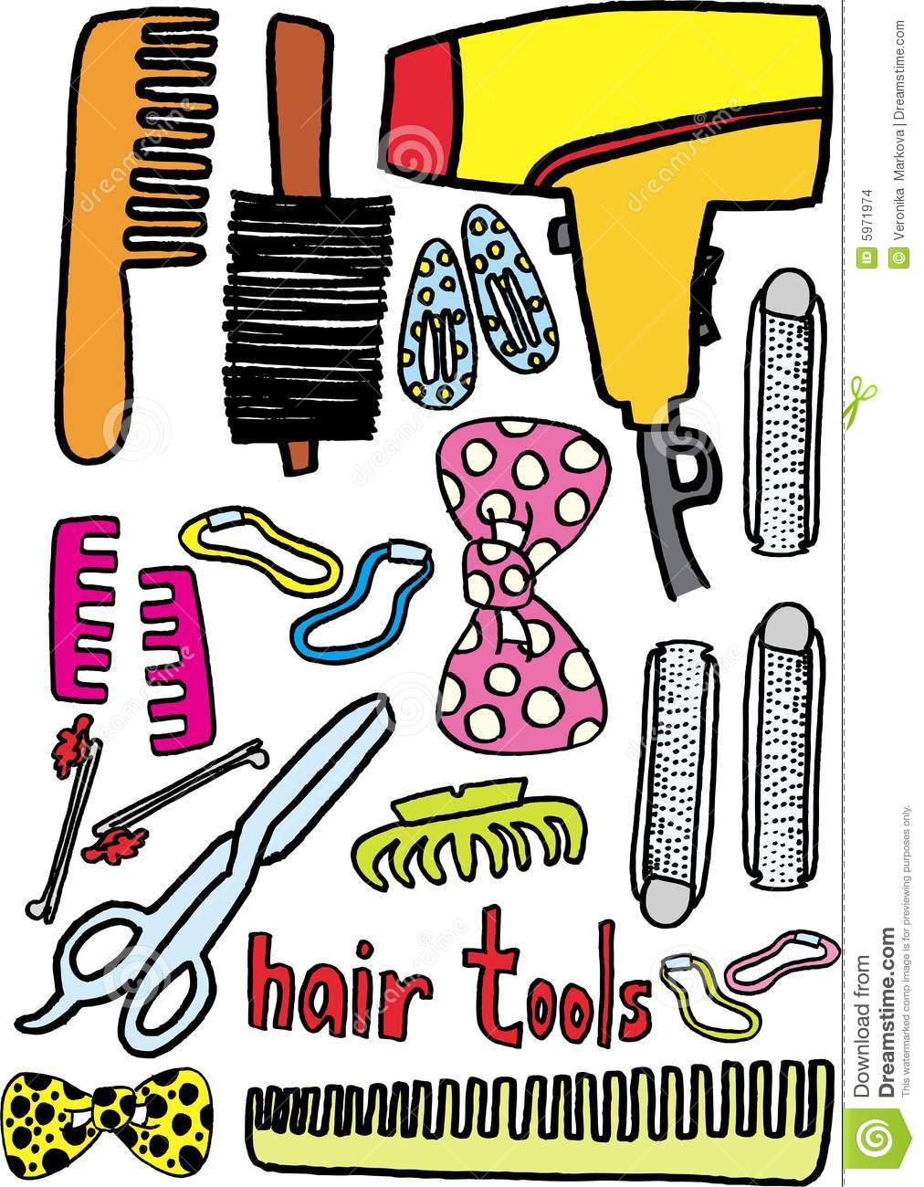 Hair Tools Stock Images - Image: 5971974
