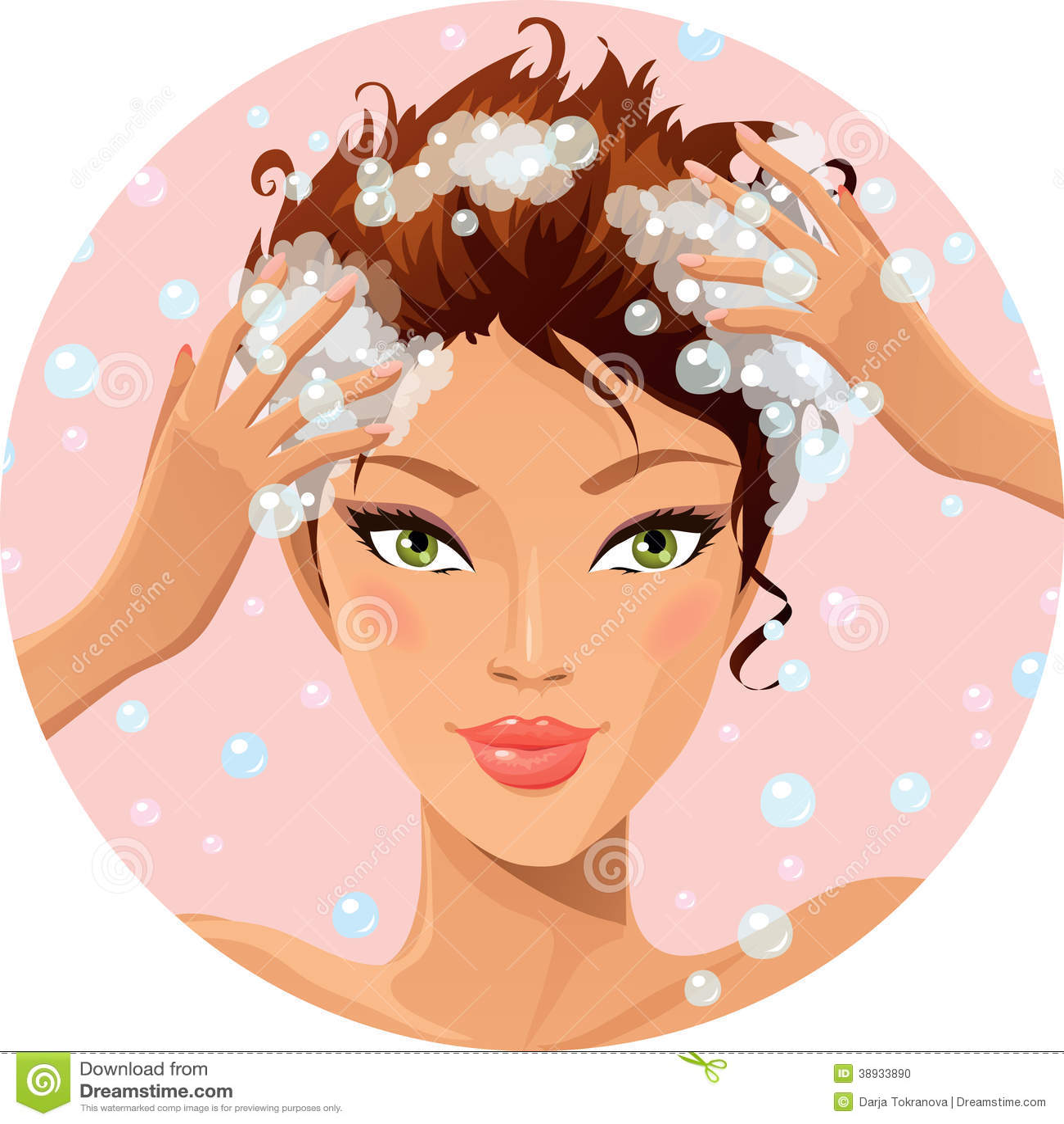 Hair Wash Stock Illustration Image 38933890