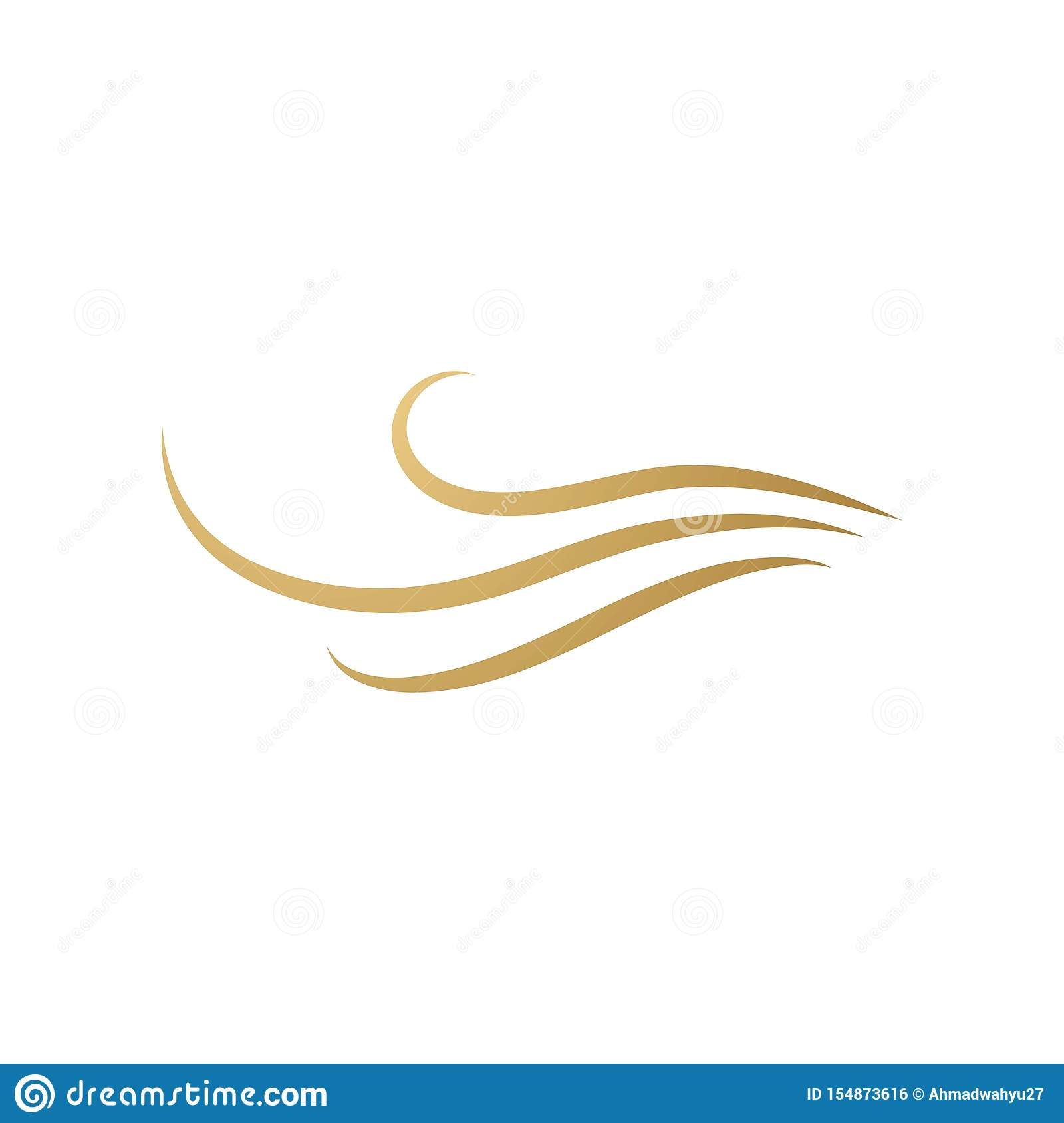 Hair Wave Logo Stock Vector Illustration Of Beauty 154873616