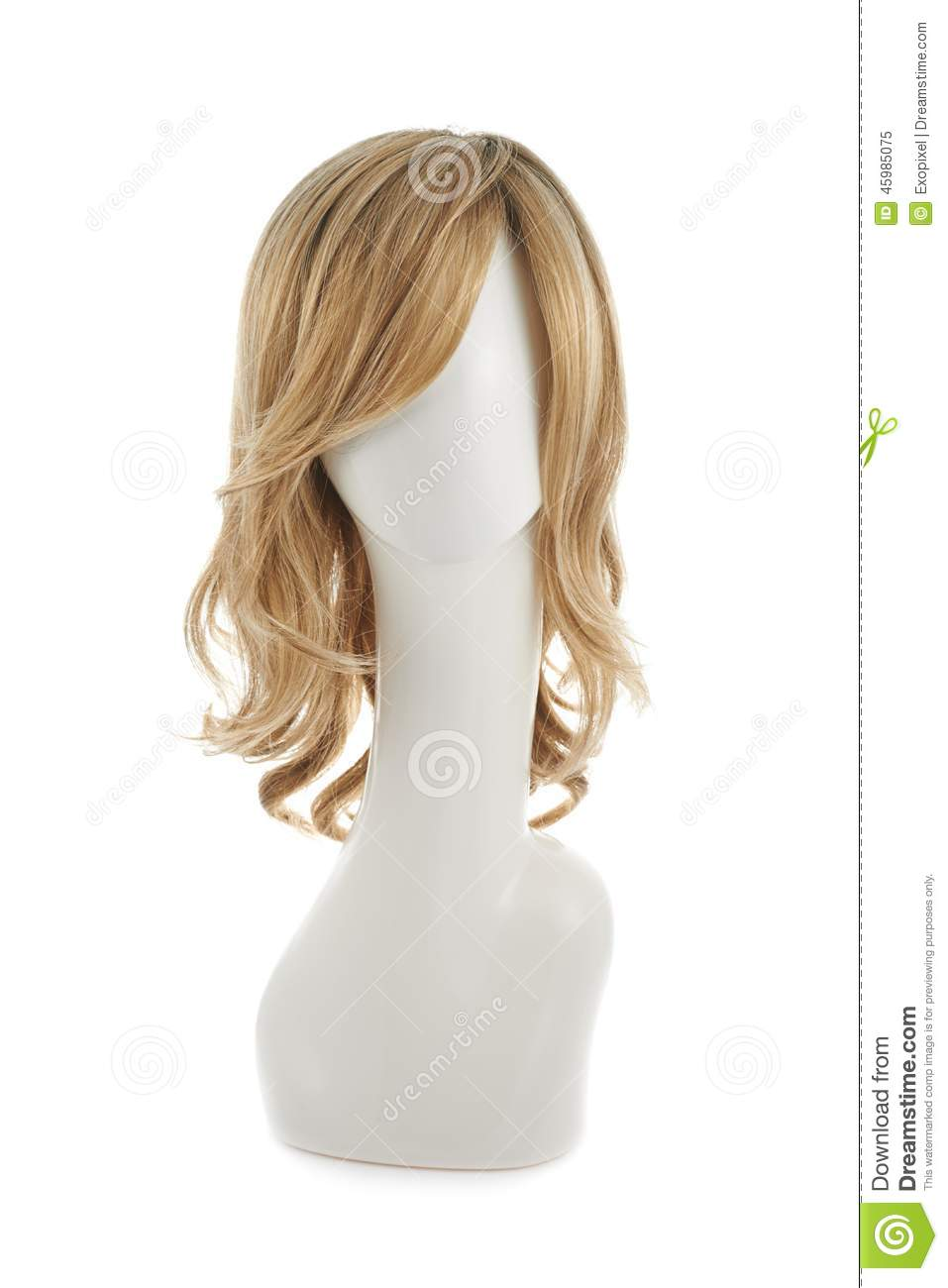 Hair Wig Over The Mannequin Head Stock Photo Image 45985075