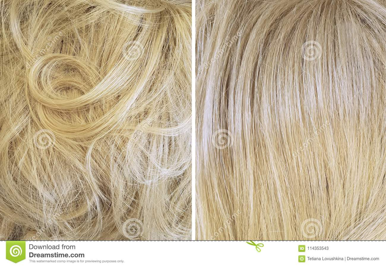Lamination of hair: before and after. Hair Laminating Agent 46