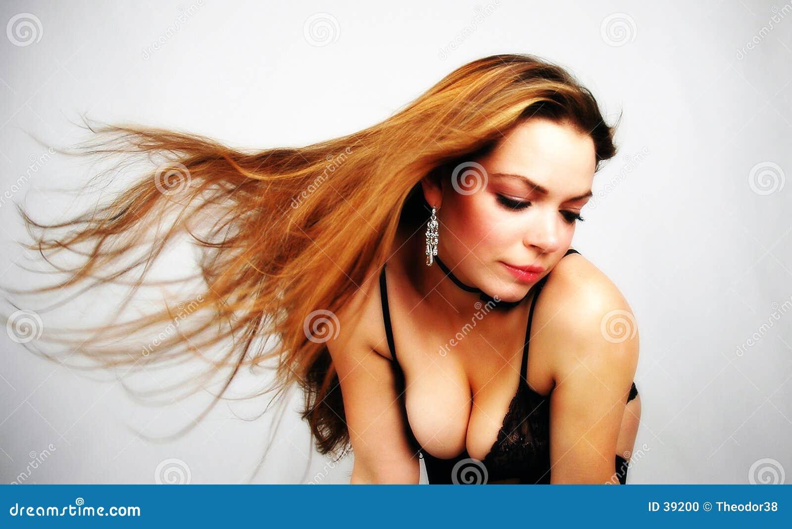 Download Hairdance-4 foto de archivo. Imagen de viento, atractivo - 39200