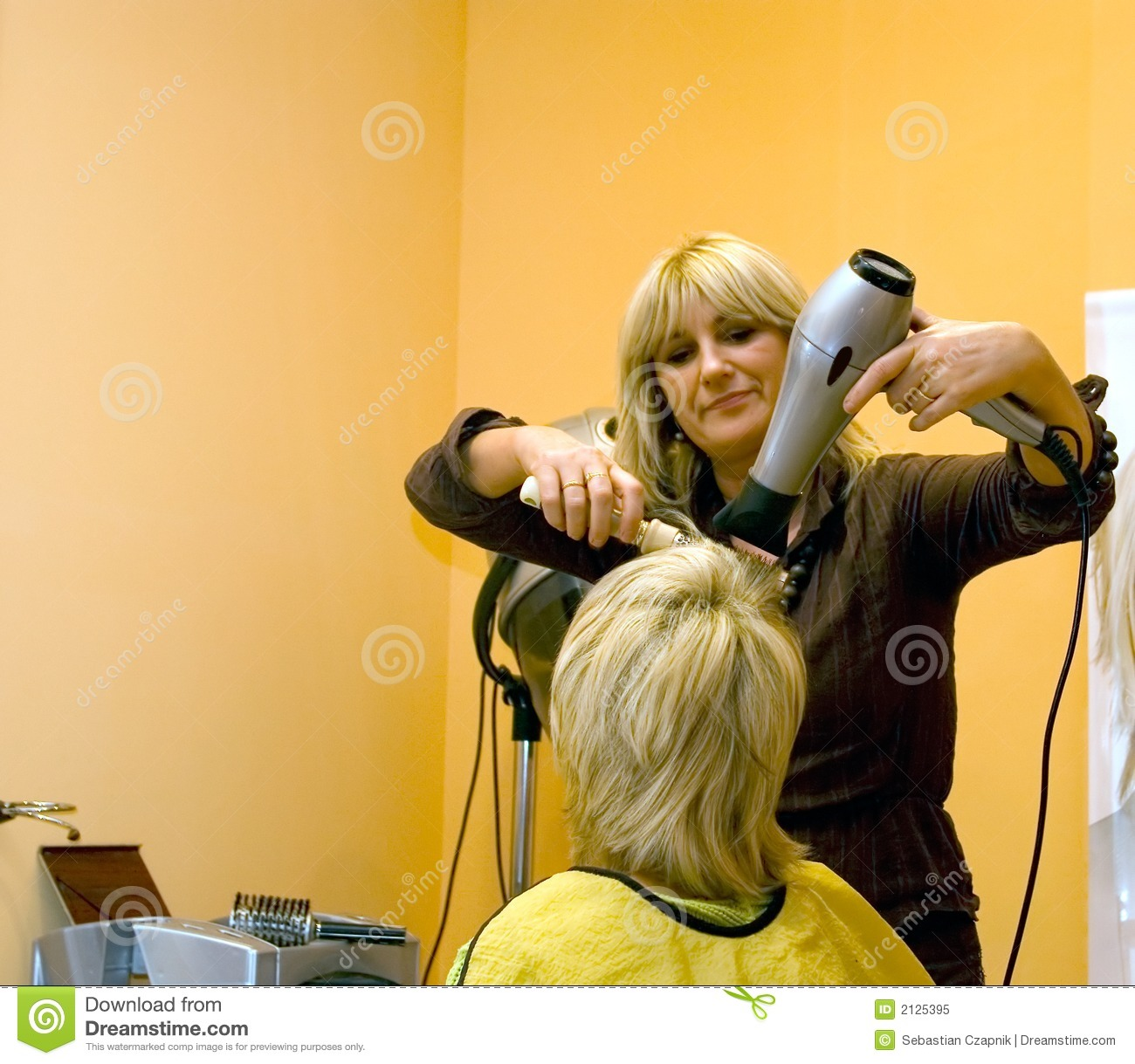 At the hairdresser