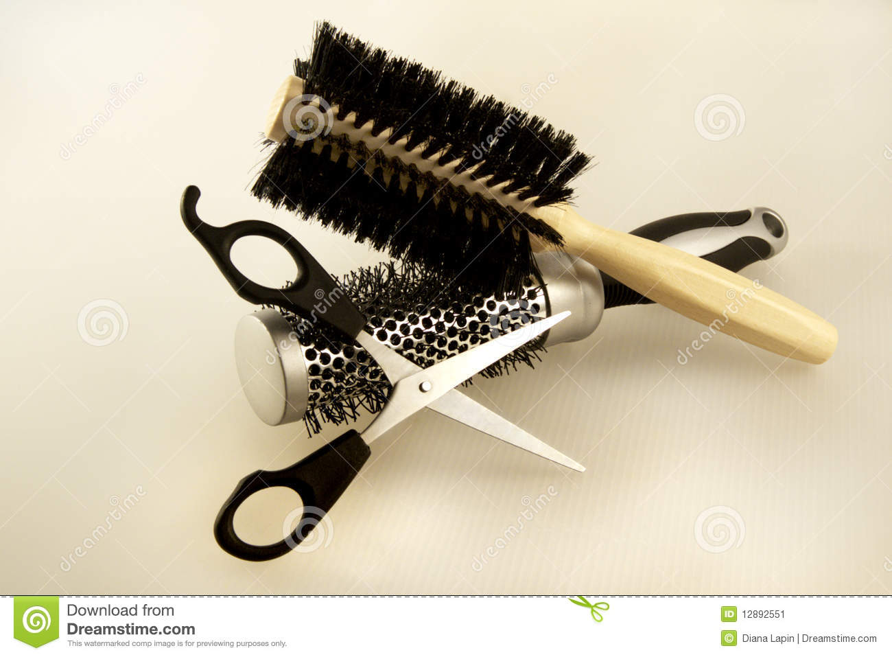 Hairdresser Accessories Stock Image - Image: 12892551