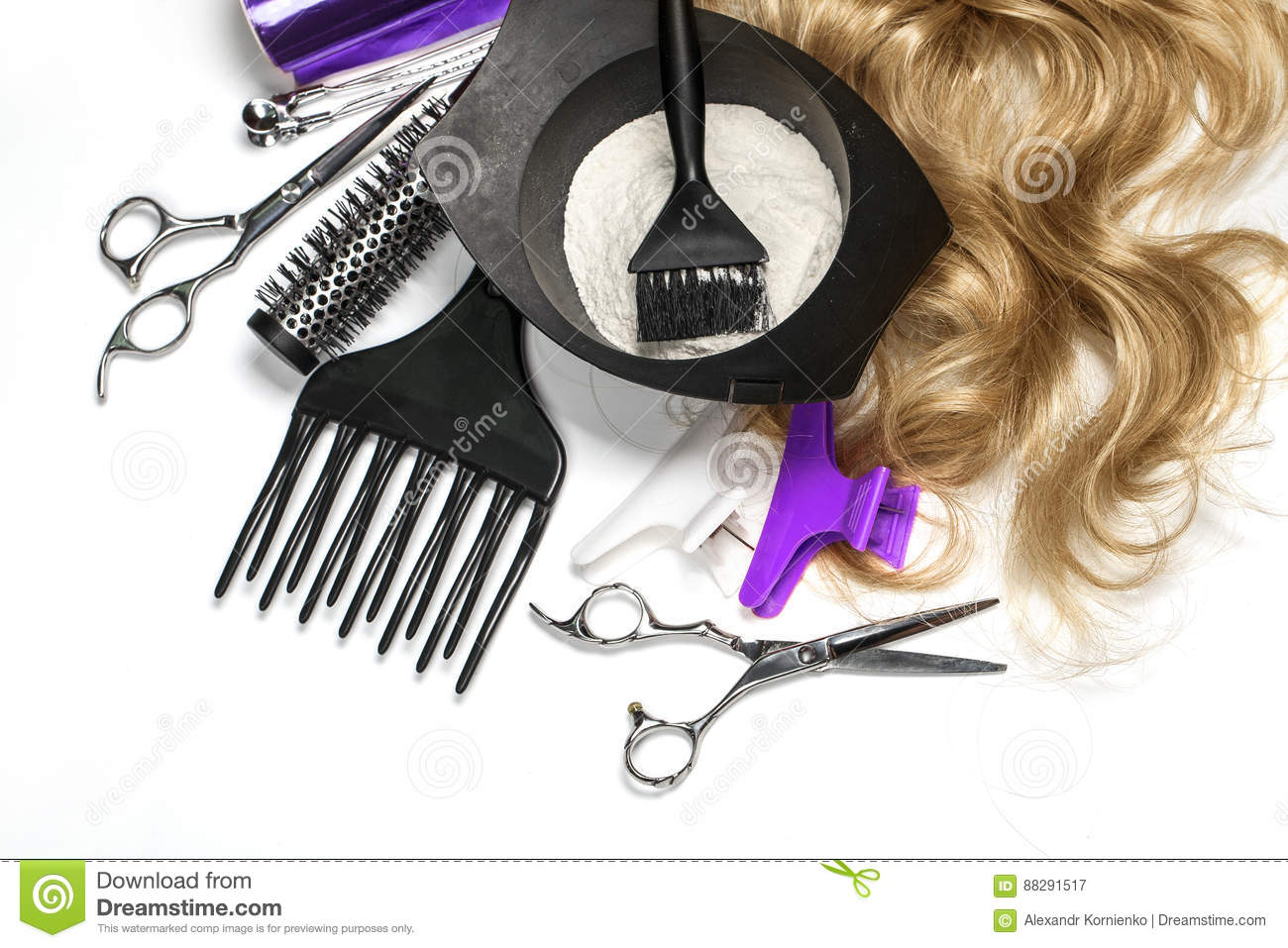 Hairdresser Accessories For Coloring Hair Stock Image - Image of ...