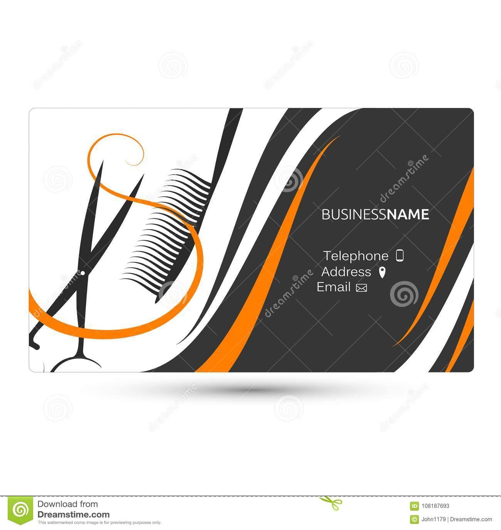 Hairdressing salon business card stock vector illustration of flat download hairdressing salon business card stock vector illustration of flat cards 108187693 colourmoves