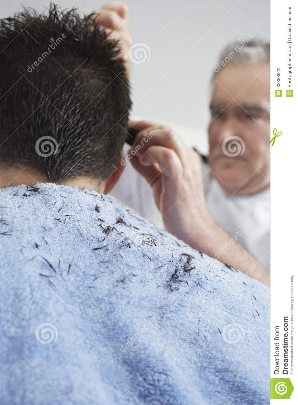Hairdresser Cutting Man S Hair Stock Photo Image Of