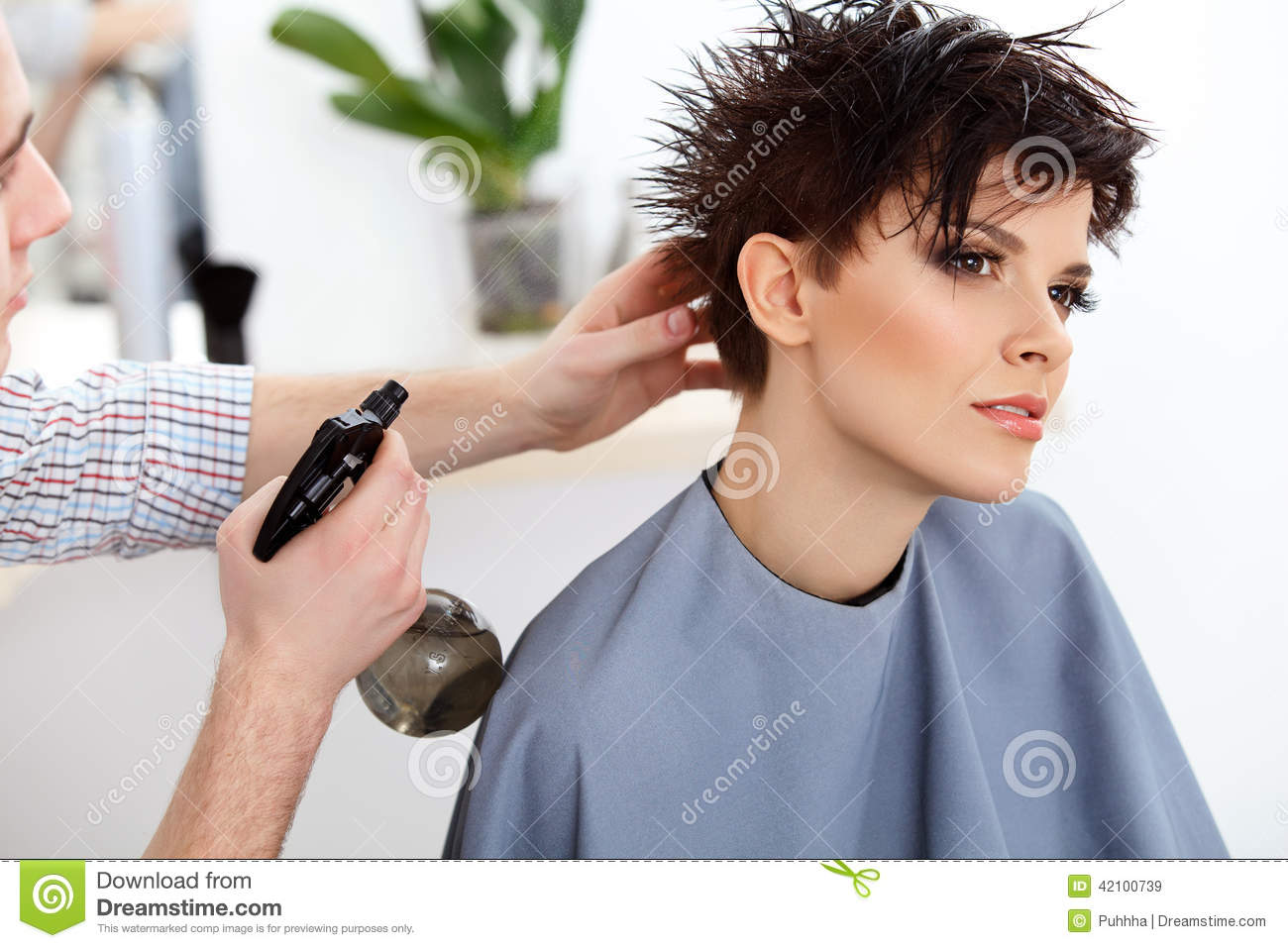 locks of free haircut salons hairdresser doing hairstyle stock photography 2731