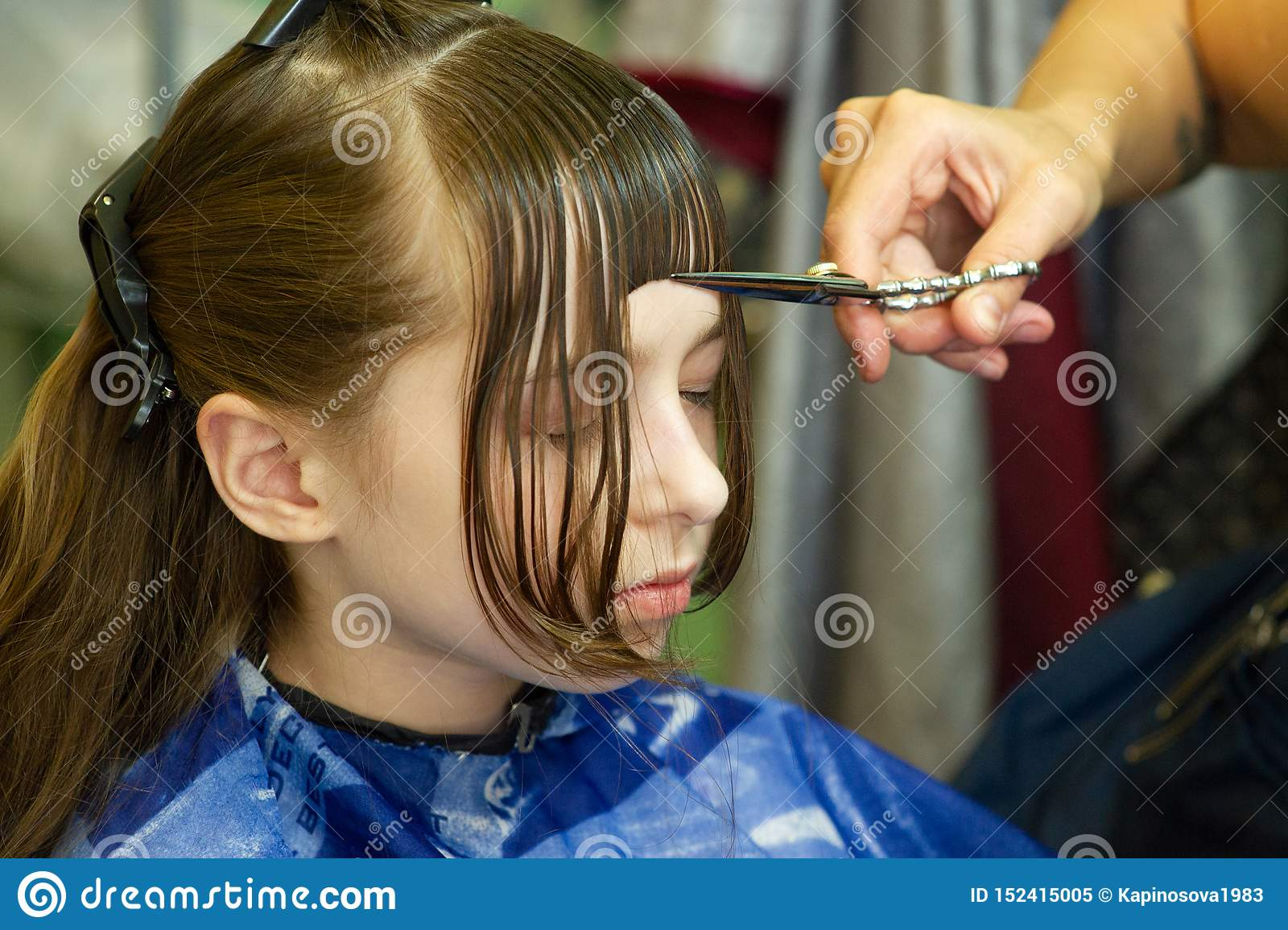 Swell Hairdresser Making A Hair Style To Cute Little Girl Stock Image Schematic Wiring Diagrams Amerangerunnerswayorg