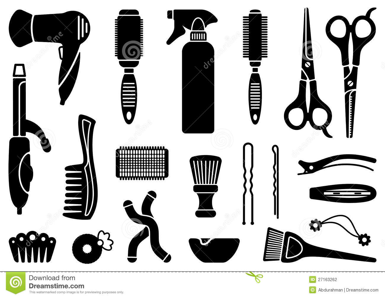 Hairdressers Accessories Stock Photography Image 27163262